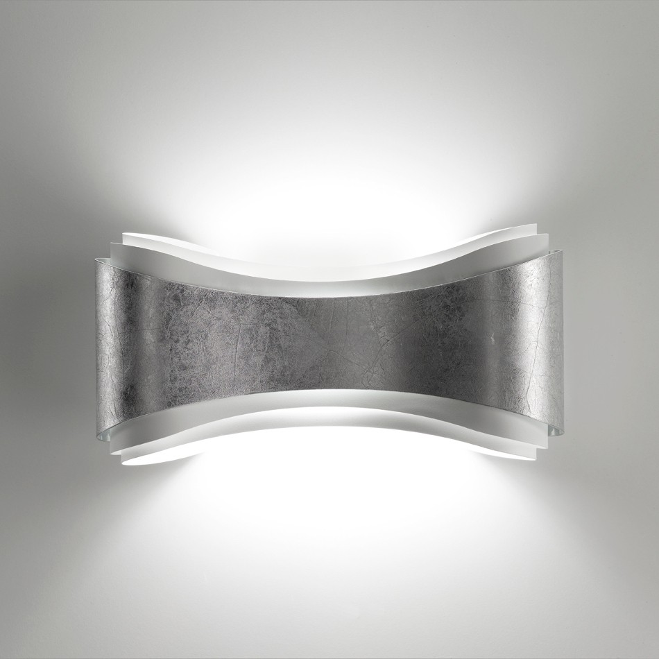 Ionica Wall Lamp - Silver leaf