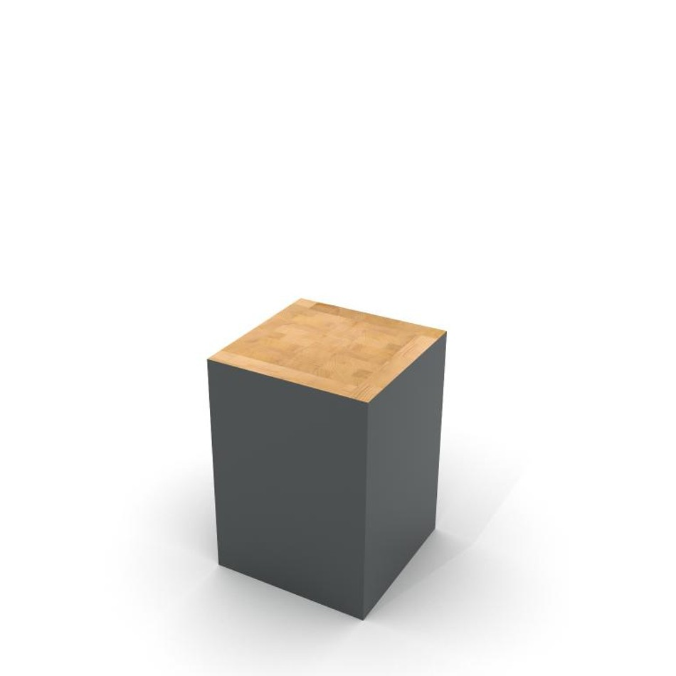 Block Stool Traffic Gray