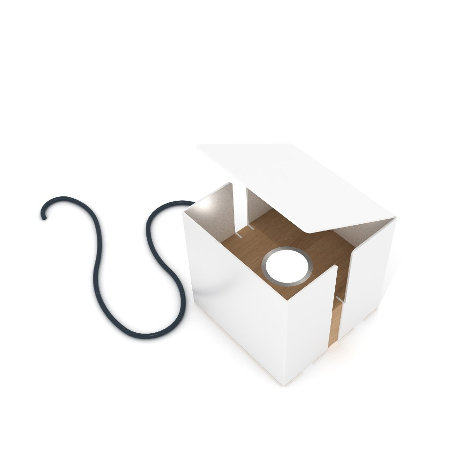 Box Lamp - White