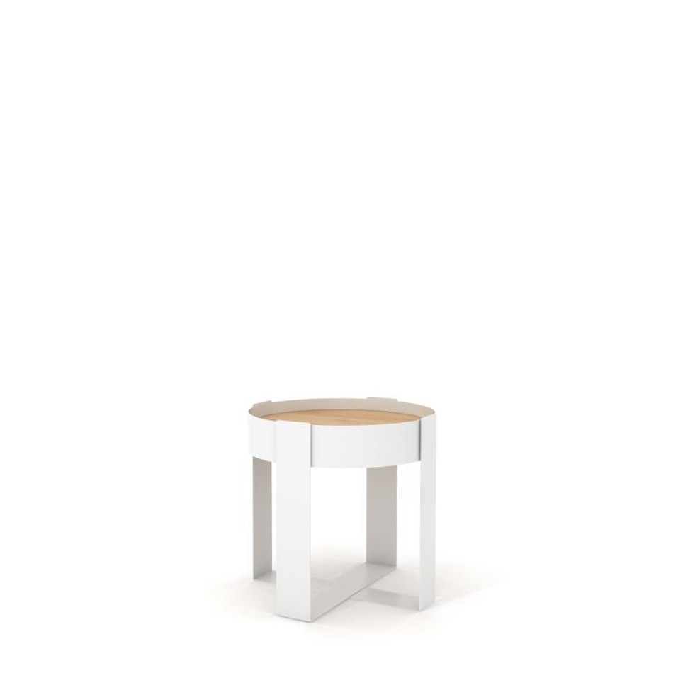 Loupe Side Table White