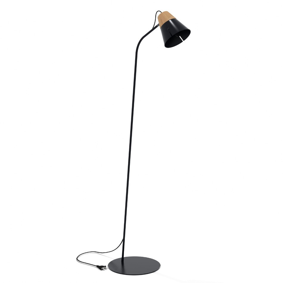 Cone floor lamp by universopositivo modern design metal and wood cone floor lamp by universopositivo modern design metal and wood floor lamp black casa24 aloadofball
