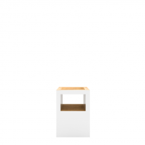 Block Stool Open White