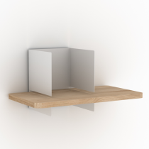 Clip Shelf Small White