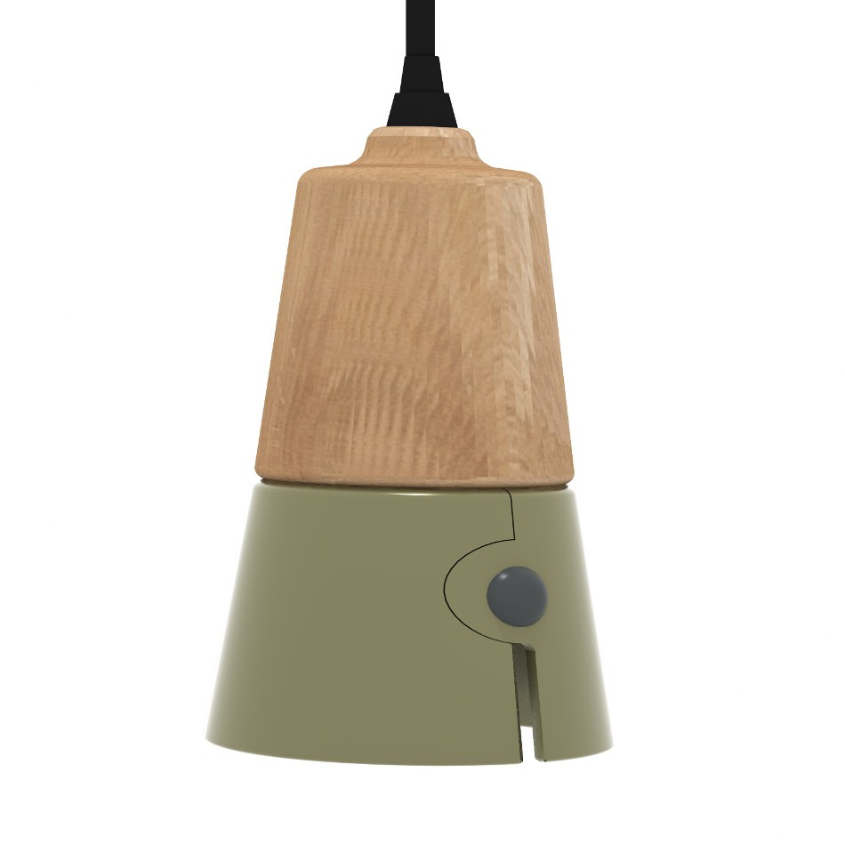Cone Suspension - White - Khaki