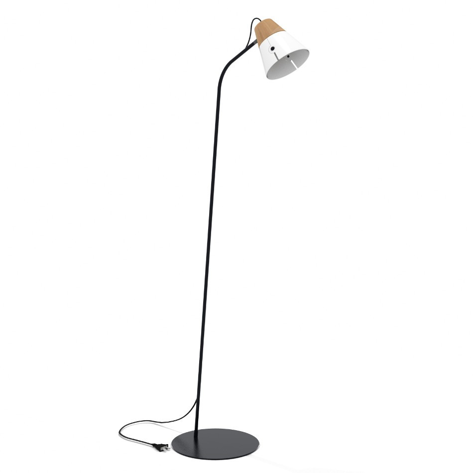 Cone Floor Lamp - White