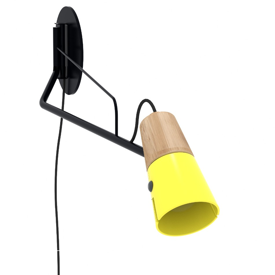 Cone Wall Lamp - Yellow