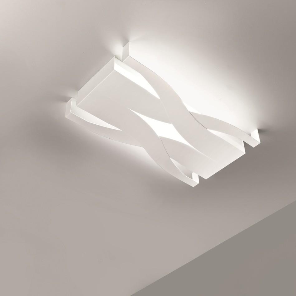 Plafoniera Fifì 60 by SELÈNE ILLUMINAZIONE - Bianco 60x34cm