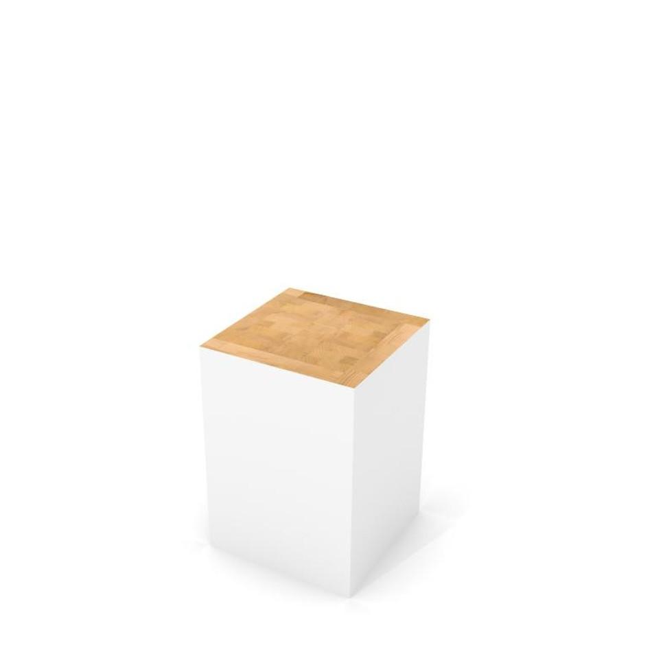 Sgabello Block Bianco