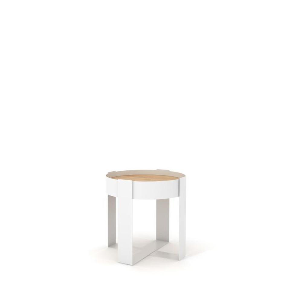 Tavolino Loupe Bianco