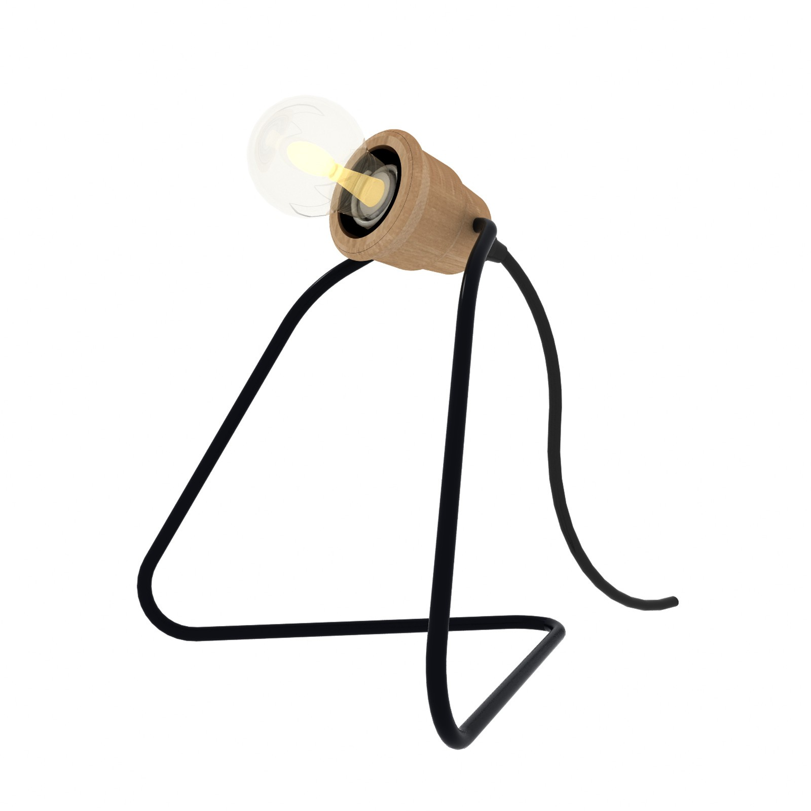 Lampada Wattman - Nero