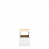 Sgabello Block Open Bianco