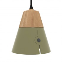 Lampada Cone - Fat - Khaki
